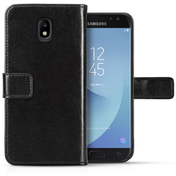Samsung Galaxy J3 (2017) Real Leather ID Wallet - Black