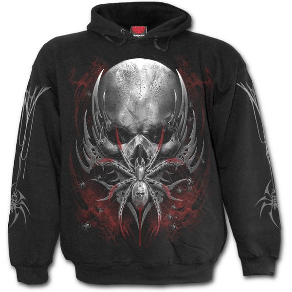 Spider Skull Men's SmallHoodie - Black