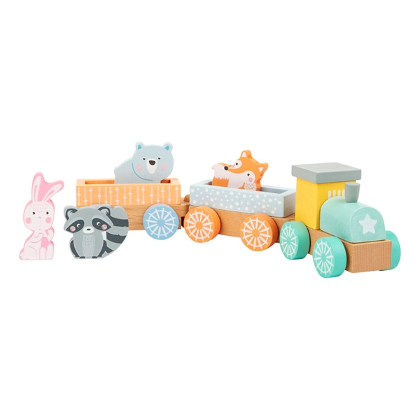 Legler - Small Foot Train in Pastel Colours Wooden Kid's Toy (Multi-colour)