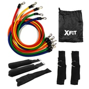 Resistance Bands Workout Exercise Yoga 11 Piece Set Crossfit Fitness Tubes XFit