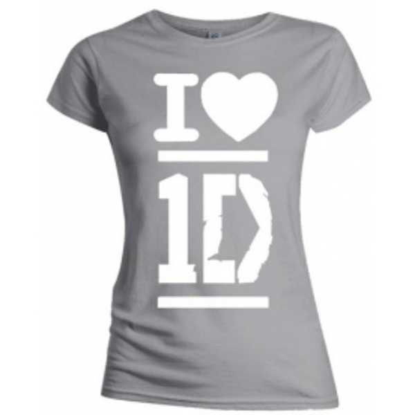 One Direction I Love Skinny Grey TS: XL
