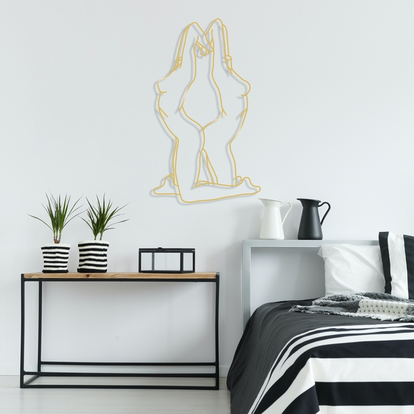 Woman's - Gold Gold Decorative Metal Wall Accessory