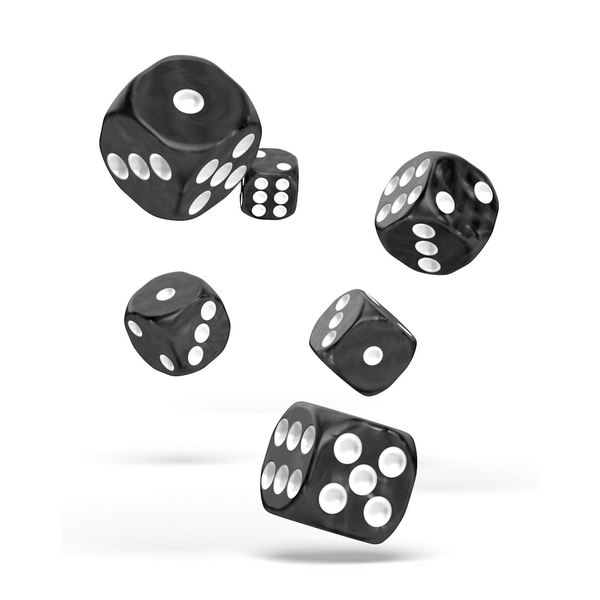 Oakie Doakie Dice D6 (Marble Black)