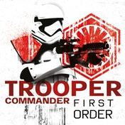Star Wars The Last Jedi - Trooper Commander First Order Canvas