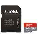 "SanDisk microSDXC Ultra 64GB (A1 / UHS-I / Cl.10 / 100MB/s) + Adapter, ""Photo"""