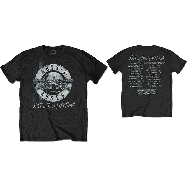 Guns N' Roses - Not in this Lifetime Tour Xerox Unisex Large T-Shirt - Black
