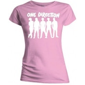One Direction Silhouette Wht on Pink Skinny TS: XL