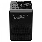 Panasonic RFD20BTEBK Portable Bluetooth DAB Radio with Alarm Clock Black UK Plug