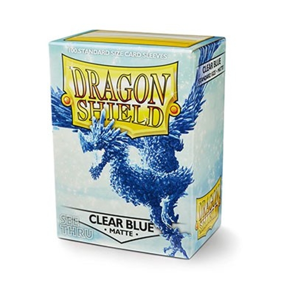 Dragon Shield Matte- Clear Blue 100 Sleeves In Box See Thru Limited Edition - 10 Packs