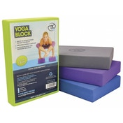 Yoga-Mad Full Yoga Block 305mm x 205mm x 50mm Blue