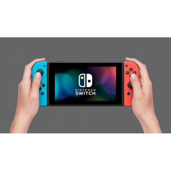 Nintendo Switch Console with Neon Red & Blue Joy-Con Controllers Fortnite Edition - Image 3