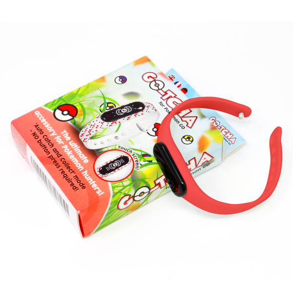 GO-TCHA Wristband for Pokemon Go with Extra Red Strap