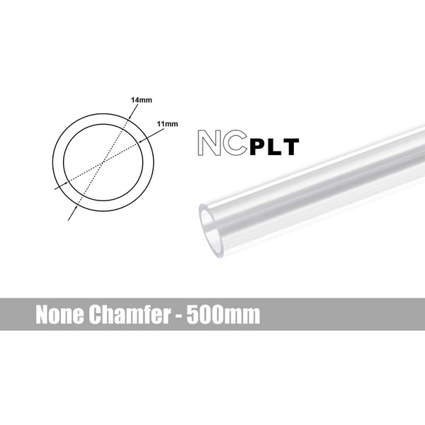 Bitspower None Chamfer PETG Link Tube OD 14mm - 500mm