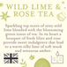 Wild Lime & Rose Tea (Fragrant Orchard Collection) Gold Tin Candle - Image 3