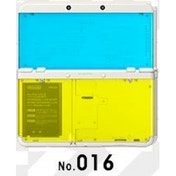 New Nintendo 3DS Cover Plates No 016 Blue & Yellow Transparent Faceplate