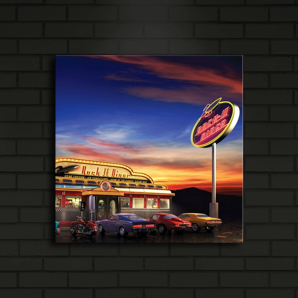 4040?ACT-24 Multicolor Decorative Led Lighted Canvas Painting