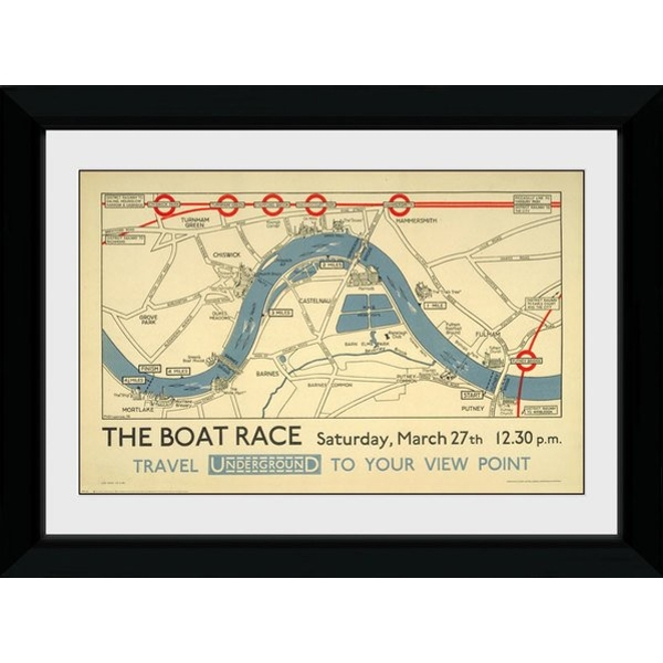 Transport For London The Boat Race 50 x 70 Framed Collector Print