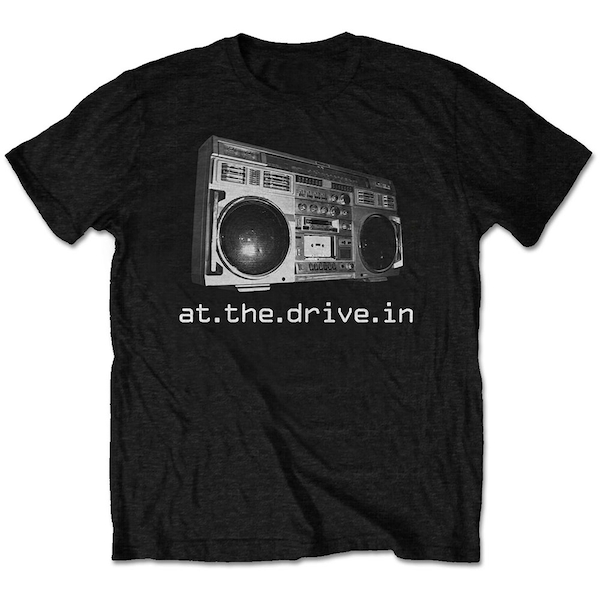 At The Drive-In - Boombox Unisex Large T-Shirt - Black
