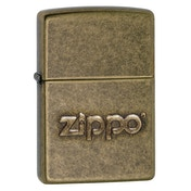 Zippo Stamp Antique Brass Regular Lighter
