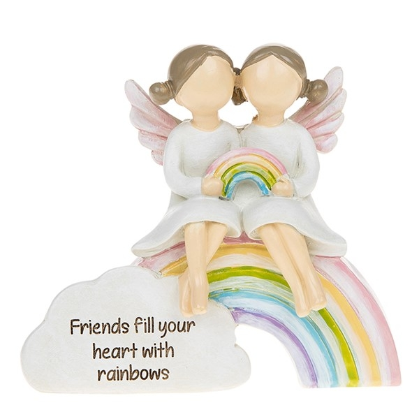 Rainbow Angels Friends Heart Ornament