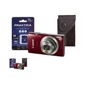 Canon IXUS 185 Camera Kit inc 16GB SD Card and Case Red