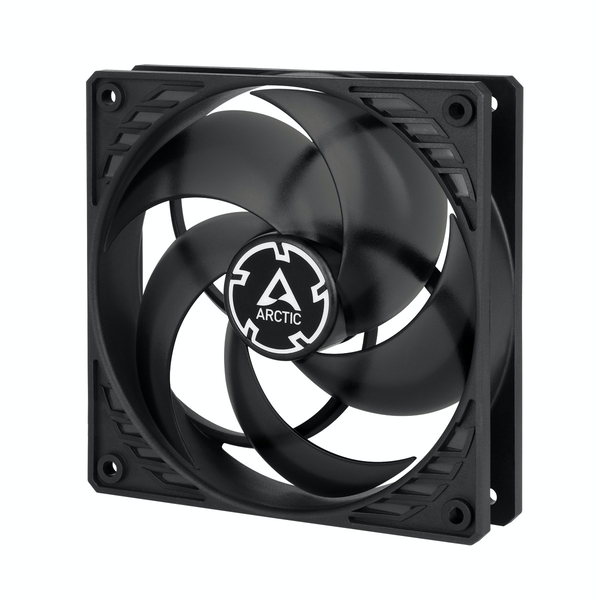 Arctic P12 12cm Pressure Optimised PWM Case Fan, Black & Transparent, Fluid Dynamic, 10 Year Warranty