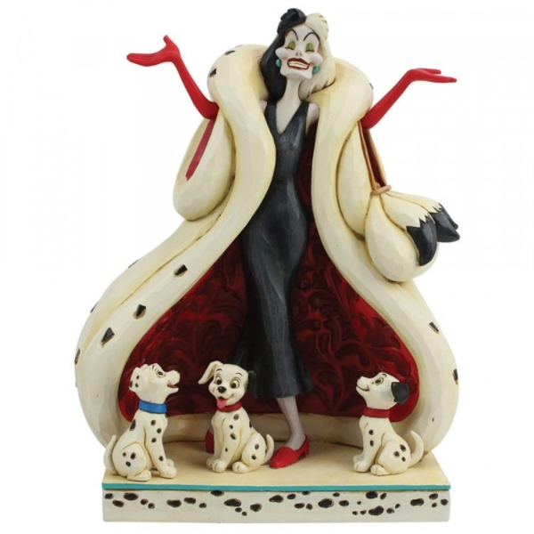 The Cute and the Cruel (101 Dalmatians) Disney Traditions Figurine