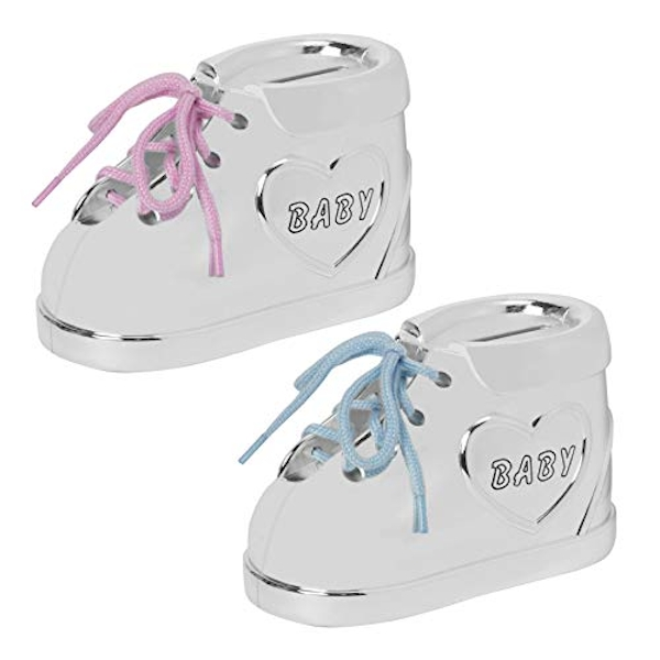 Bambino Silver Plated Baby Bootie Money Box