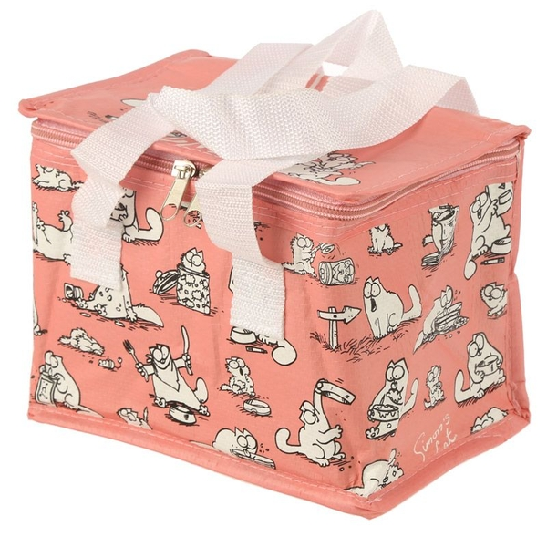 Simons Cat Design Pink Lunch Box Cool Bag