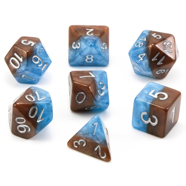 Halfsies Dice - Earth Elemental Poly 7 Dice set