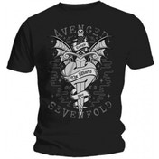 Avenged Sevenfold Cloak and Dagger Black T Shirt: X Large