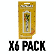 Orange (Pack Of 6) Chewits 3D Hanging Air Freshener