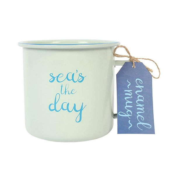 Sea's the Day Enamel Mug