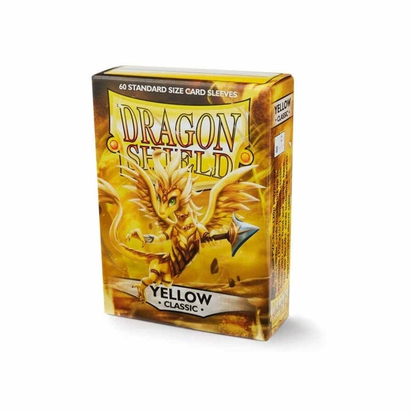 Dragon Shield Japanese Size Classic Yellow Card Sleeves - 60 Sleeves