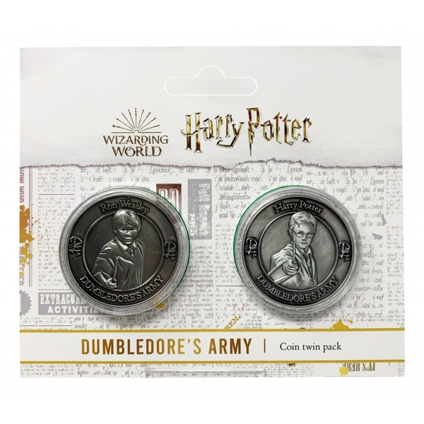 Harry Potter Dumbledore Army Collectible Coin Set (Harry Potter & Ron Weasley)