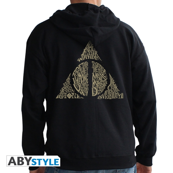 Harry Potter - Deathly Hallows Men's X-Large Hoodie - Black