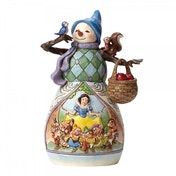 Disney Traditions Hi Ho Holidays Snowman with Snow White scene