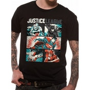 Justice League Comics - Pop Art Men's Large T-Shirt - Black
