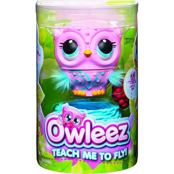 Owleez Interactive Flying Baby Owl - Pink