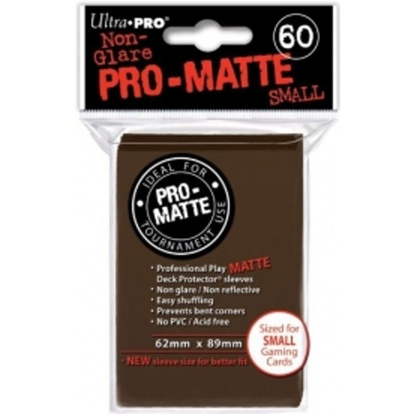 Ultra Pro Matte Small Light Brown DPD 10 Packs Of 60