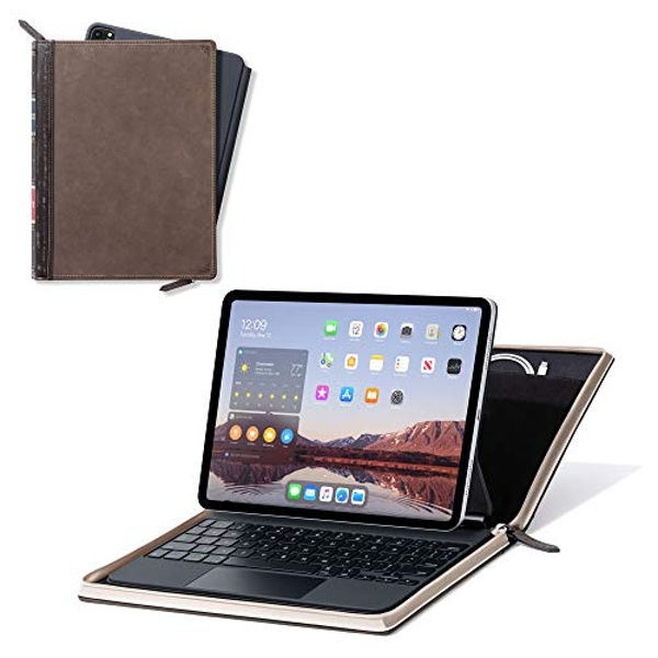 Twelve South BookBook Vol 2 for 12.9-inch iPad Pro (Gen 3 and 4) | Hardback leather Cover with Pencil/Document/Cable Storage for iPad Pro + Apple Pencil 12-2015
