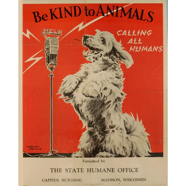 Vintage Metal Sign Retro Advertising Be Kind To Animals