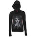 Day of The Goth Women's X-Large Wide Rib Drape Hoodie - Black - Image 2