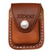 Zippo Brown Lighter Pouch With Clip Leather
