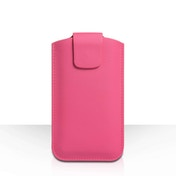 YouSave Lichee PU Leather Pouch (L) - Hot Pink
