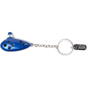 Nintendo Legend of Zelda Occarina 3D Pendant Metal Keychain - Blue