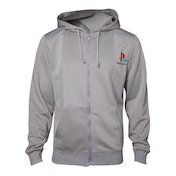 Sony Playstation - PS One Men's Medium Full Length Zipper Hoodie - Grey
