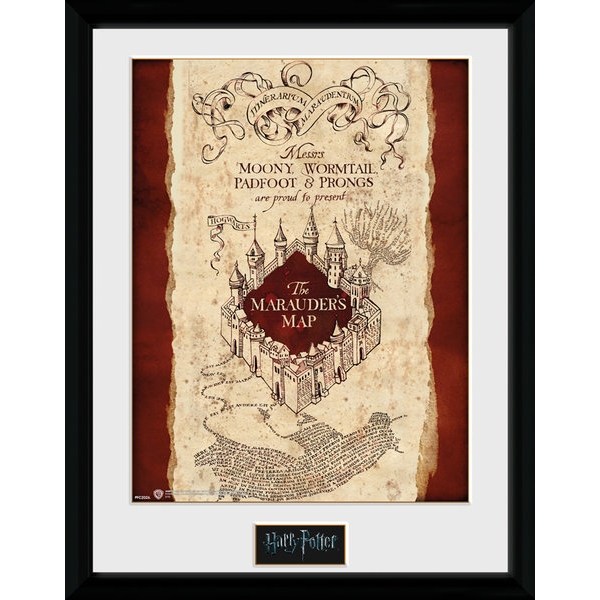 Harry Potter Marauders Map 30 x 40cm Framed Collector Print