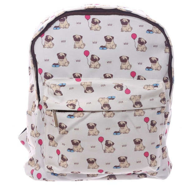 Pug Design Kids School and Everyday Rucksack