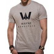 Justice League Movie - Wayne Aerospace Men's Medium T-Shirt - Grey